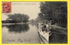 cpa 92 - PUTEAUX Bois de Boulogne Le BARRAGE de SURESNES Bateau YACHT Animée