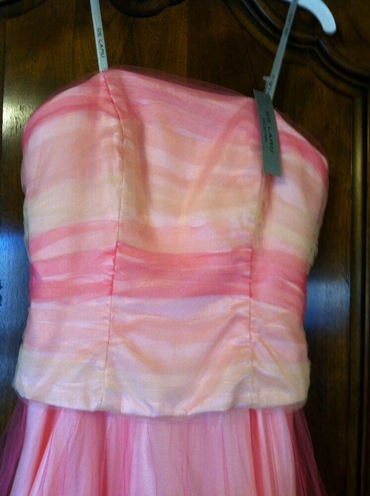 De Laru collection    pink formal dress prom gown  3 4 e8c0db
