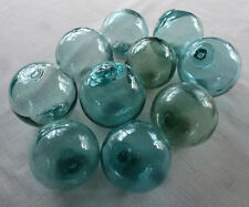 """Vintage Japanese Round Glass Fishing Floats, 3"""",   Lot 10"""