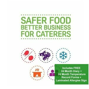 2020 Safer Food Better Business Indian Caterers Pack /& 24 Month Diary in Folder