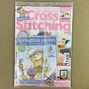 World of Cross Stitching UK craft magazine June 2019 issue 281 with gift new