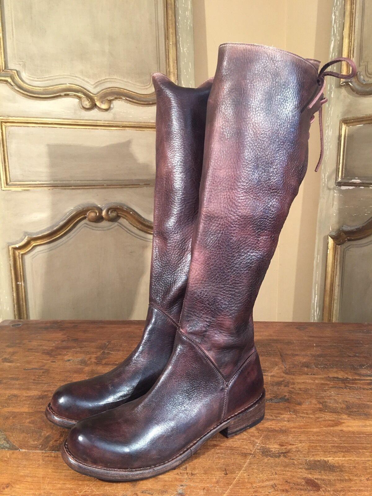 New Bed Stu Manchester Cobbler Series Tall Knee High Campus Womens Boots Sz 7.5