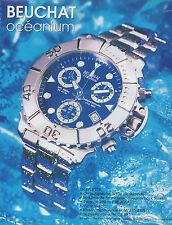Publicité Advertising 2003  Montre BEUCHAT océanium OCEA 657X