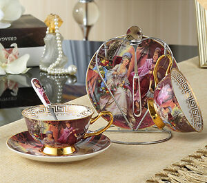 Image Is Loading Luxury Bone China Coffee Cup Set Clic Royal