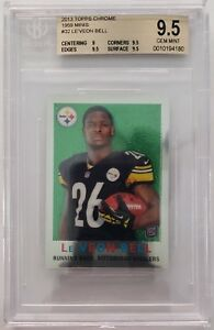 2013-Topps-Chrome-32-Le-039-Veon-Bell-Rookie-BGS-9-5