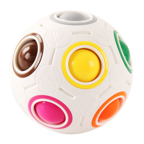veZve Rainbow Ball Puzzle Game Anti Stress Color Matching Fidget Toy