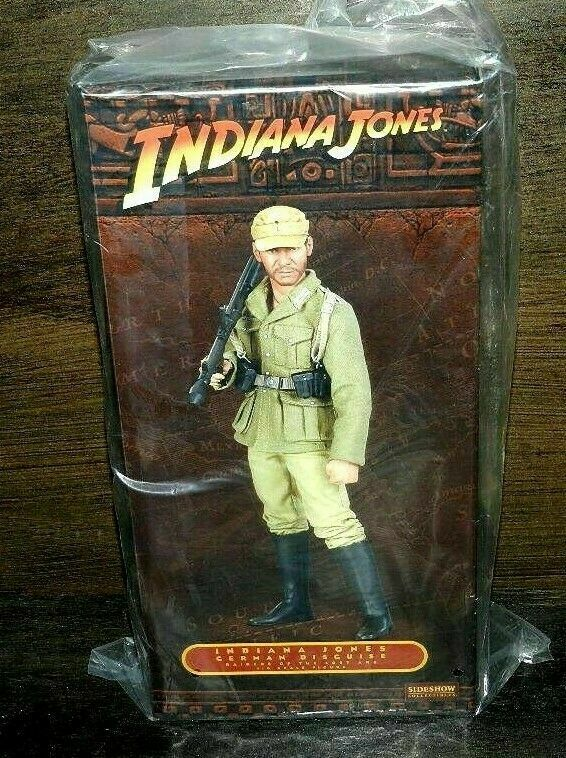 SIDESHOW INDIANA JONES GERMAN DISGUISE SEALED NEW 12  BAGGED HARRISON FORD MOVIE