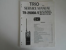 KENWOOD TR-2600A/E (solo MANUALE originale Service)... RADIO _ Trader _ Irlanda.
