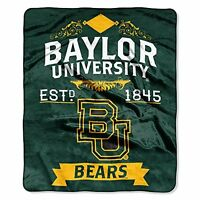 The Northwest Company Ncaa Baylor Bears Label Raschel Throw, 50-inch By 60-inch, on sale