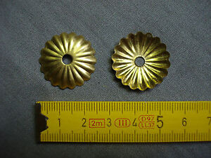 rondelles caches Rosaces en laiton lot de 4 réf E4 Ø 24 mm trou de 4 mm