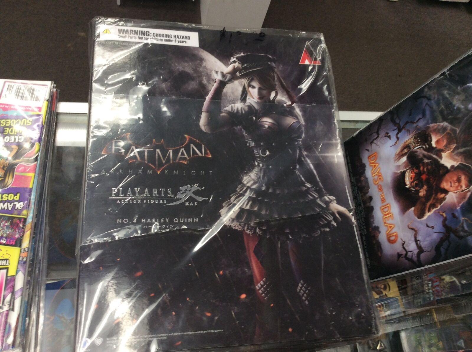 DC Play Arts Kai HARLEY QUINN Arkham Knight Batman SQUARE ENIX MIB Unopened