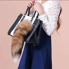 Fashion MINI-FUCHSSCHWANZ Damentasche  Anhänger Fuchsschweif Schlüsselanhänger