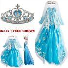 NEW Kids Girls Dresses Elsa Frozen dress costume Princess Anna party dresses