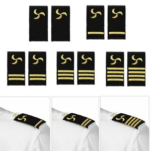 2Pcs-Traditional-Uniform-Epaulets-Shoulder-Boards-Gold-Embroidered-Propeller-New