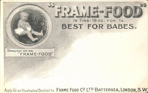 Advertising. FrameFood, Battersea, London. Best for Babies.