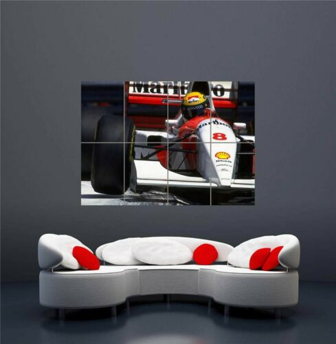 SENNA AYRTON F1 MARLBORO RACING DRIVER NEW GIANT WALL ART PRINT POSTER OZ600