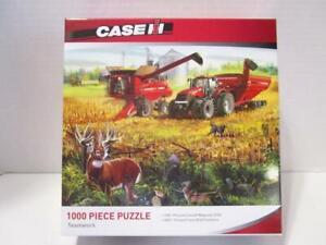 NEW-Case-IH-8230-Combine-Picking-Corn-TEAMWORK-71439-1000-Pc-Jigsaw-Puzzle