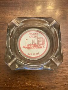 Vintage-Holiday-Casino-Las-Vegas-Clear-Glass-Ashtray-4-034