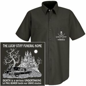 Paul Shirt Skull Is Death Work Serious Bearer Undertaker Funeral Grave Situation 9E2WDHIY