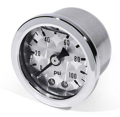 Oil Pressure Gauge Oil Pressure Gauge silver -100 PSI 6 Bar for Yamaha Ducati