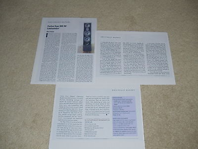 2003 Full Test Good Heat Preservation Useful Canton 900 Dc Speaker Review 3 Pgs