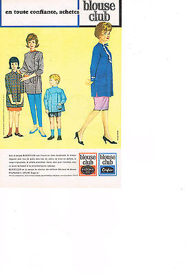 Publicite Advertising 1963 Blouse Club Tabliers Blouses Breweriana, Beer