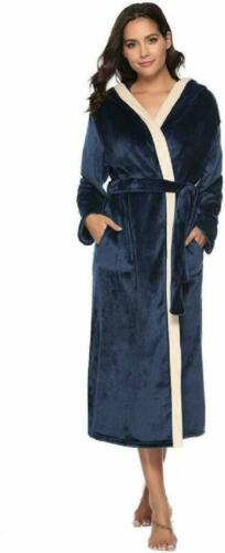 iClosam Ladies Coral Fleece Dressing Gown Luxurious Bathrobe Full Length Winter