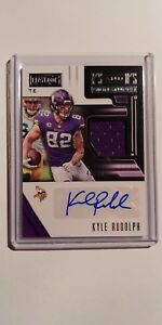 Nice 2018 PLAYBOOK X'S AND O'S KYLE RUDOLPH JERSEY AUTO #'D 4849