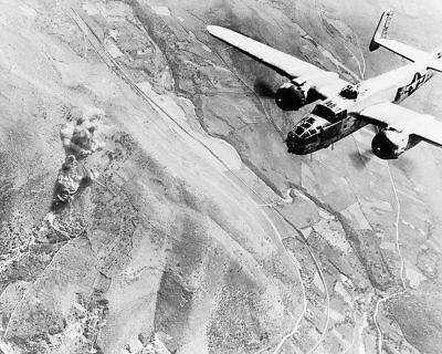Transport Italien 11x14 Silber Halogen Fotodruck Modellflugzeuge Reliable Wwii B-25 Bombing Nahe Rome