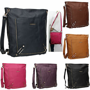 SWANKYSWANS-Womens-Faux-Leather-Crossbody-Day-School-Uni-Messenger-Satchel-Bag