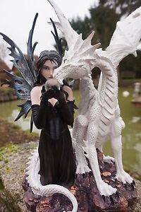 143769 Grande Figurine Statuette Fee Elfe Dragon Heroic Fantasy Fin 20%