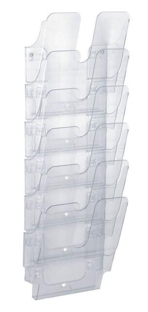 DURABLE Wandprospekthalter FLEXIPLUS 6 Fächer transparent für A4 hoch
