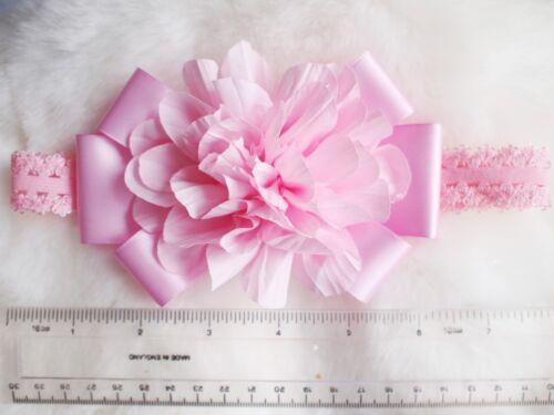 Baby Girls Kids Flower Bow Hairband Soft Elastic Band Headband Hair Accessories