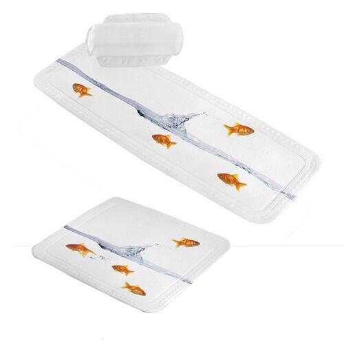Duschmatte bañera no situación badewannenkissen Design pez dorado-pequeña nube