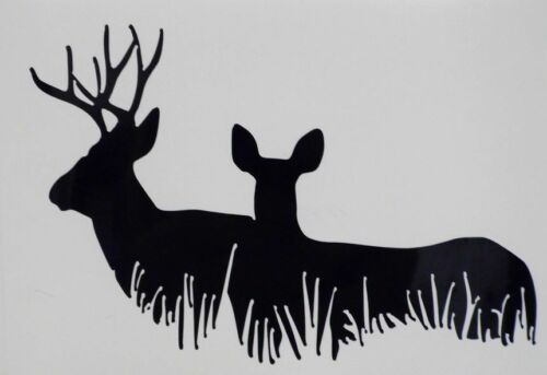 Buck Doe Deer Family Hunting Car Truck Window Vinyl Decal Sticker 12 COLORS