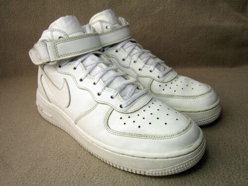 cuero 5 Gs en 5 color Nike 38 Eu hi Mid Air de de Tamaño top Reino 1 Force Zapatillas 5 blanco Unido Opnt41wx