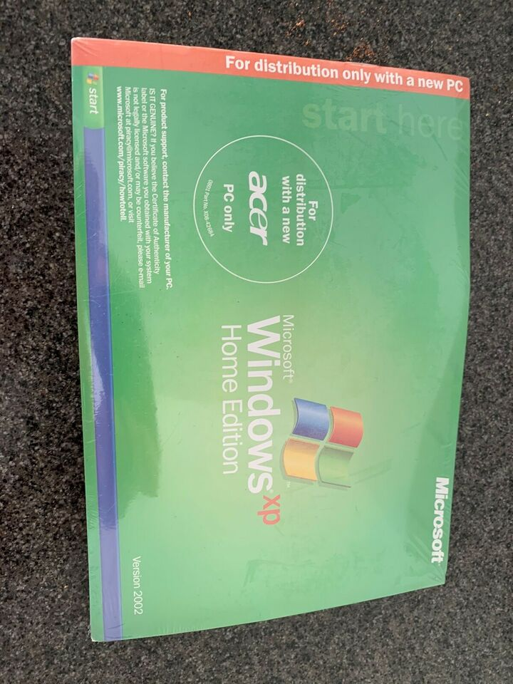 Windows XP Home Edition, Licens + CD mm.