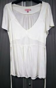 Ted-Baker-Ivory-Tie-Back-Top-Good-4-Summer-Loose-Cap-Sleeves-Size-4
