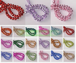 4mm-6mm-8mm-10mm-Wholesale-Faceted-Rondelle-Crystal-Glass-Loose-Spacer-Beads