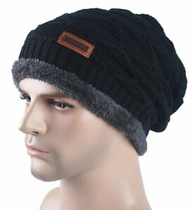 a693b6ddcde Spikerking Mens Knitting Cap Winter Hat Beanie Skull Hat With Thick ...