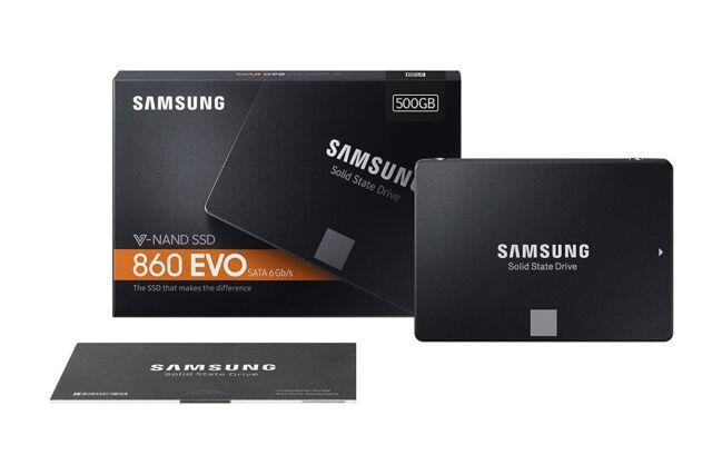 Samsung 860 EVO 500GB V-NAND 2.5 Inch SATA III Internal SSD (MZ-76E500B/AM)