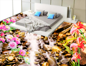 3D Stone Flowers 756 Floor WallPaper Murals Wall Print 5D AJ WALLPAPER UK Lemon