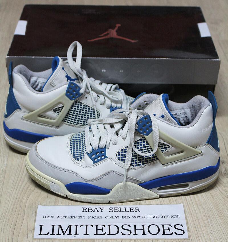 Nike air jordan iv militärischen 4 retro - militärischen iv blau 308497-141 uns 8,5 zement feuer rote angst 6efd98