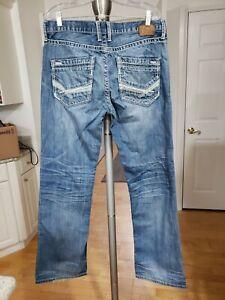 BKE Jeans Men Jake Sz 34X34 Blue Denim Wash Straight Leg ...