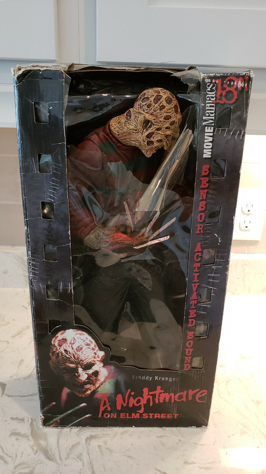 NEW Rare Nightmare FROTdy On Elm Street FROTdy Nightmare Krueger Movie Maniacs McFarlane Toys 18