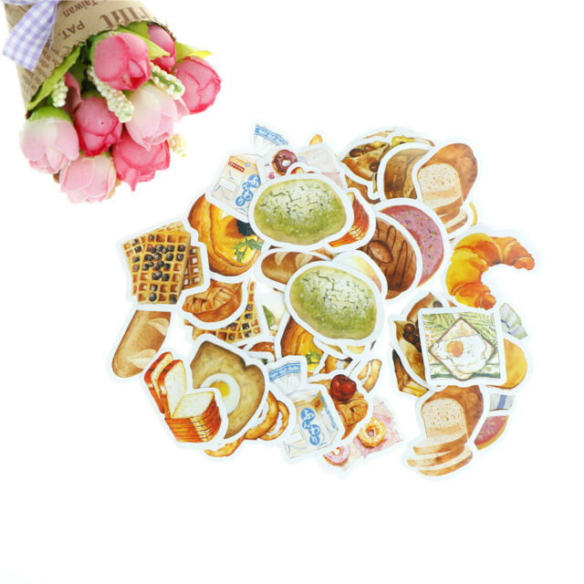 45pcs remember to eat breakfast paper sticker diy diary decor for album  O