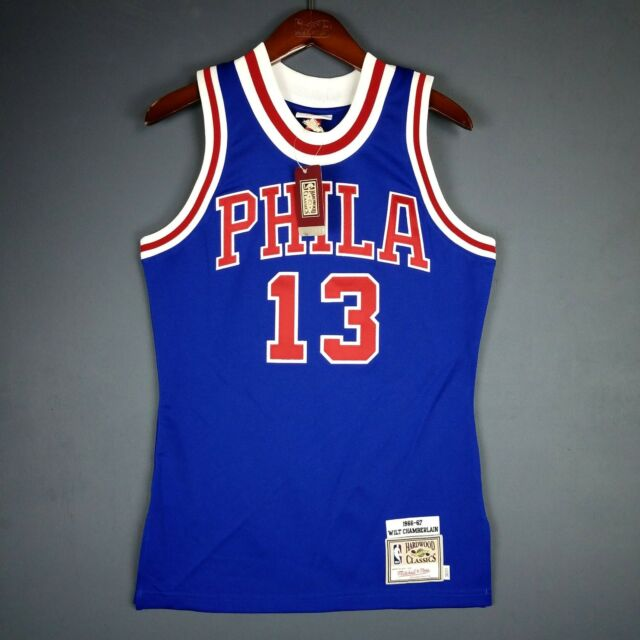 e8ea3874494 100% Authentic Wilt Chamberlain Mitchell Ness 66 67 Sixers Jersey Size 36 S  Mens