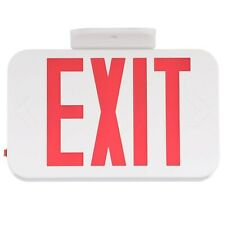 Progress Lighting Thermoplastic Led Exit Sign With Red Letters Pe008 30