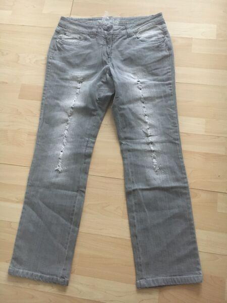 !! Damen Jeans !! Stretch !! Glitzer !! Strass!! Baumwolle !! Gr.21 !! Neu !!