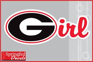 Georgia Bulldogs G Irl Vinyl Decal Uga Georgia Girl Car Sticker